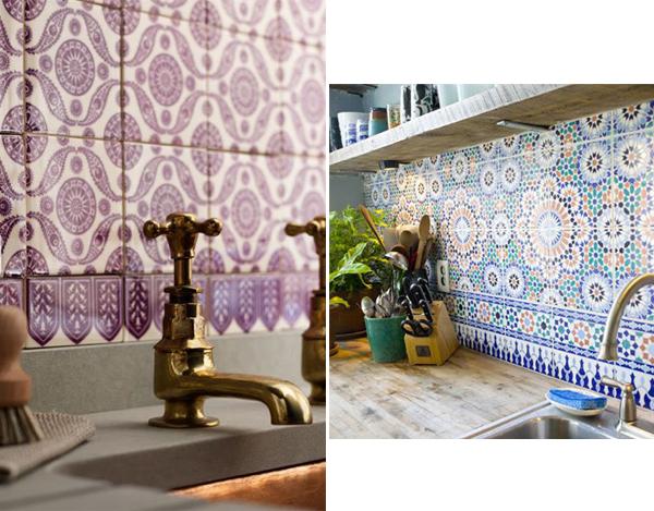 Płytki w kuchni  Wnętrza, Inspiracje, Meble -> Kuchnia Plytki Mozaika