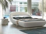 Białe łóżko nowoczesne