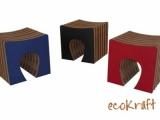 Kolekcja eco mebli z kartonu