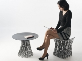Nowoczesny stolik i stołek