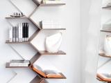 Nowoczesne półki na ksiażki