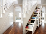 Schowek pod schodami oszczędza przestrzeń