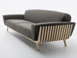 Sofa z drewnem
